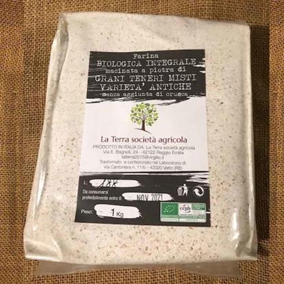 Farina di grani teneri misti varietà antiche integrale e semi-integrale